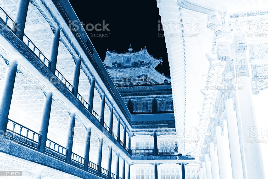 Tibetan Architecture in Putuo Temple of cases, Chengde, Mountain stock photo
