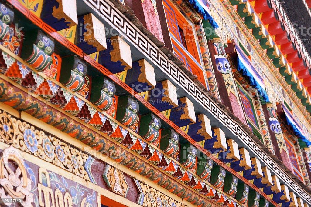 Tibetan architecture stock photo