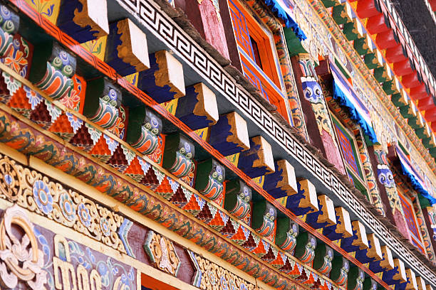 Arquitectura tibetano - foto de stock