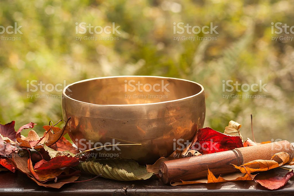 tibetan bowl stock photo