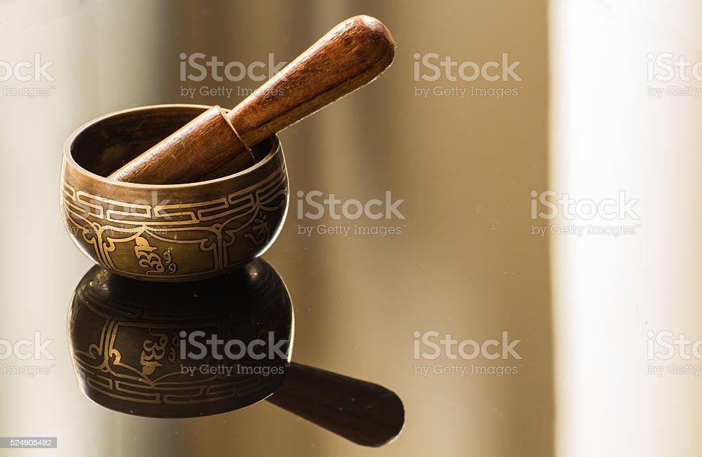 Tibetan bowl stock photo