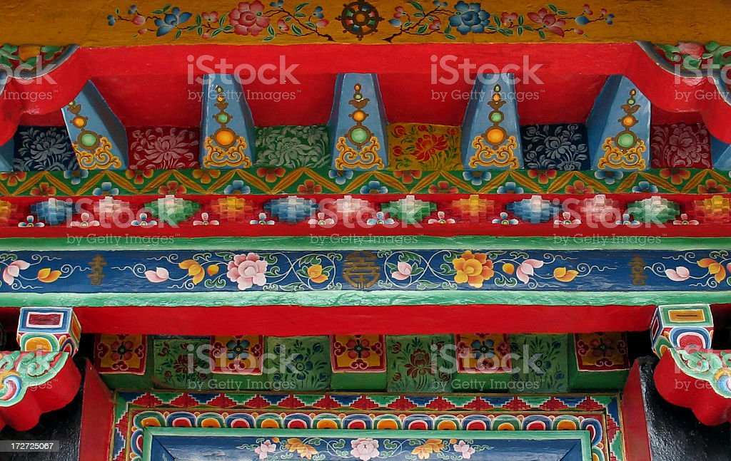 Tibetan Buddhist Architecture royalty-free stock photo