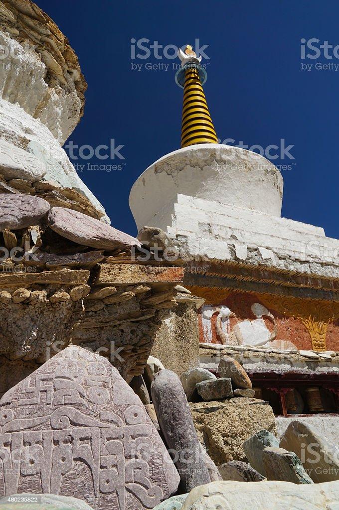 Tibetan Buddhist Mani Stones With Carved Mantras At Lamayuru
