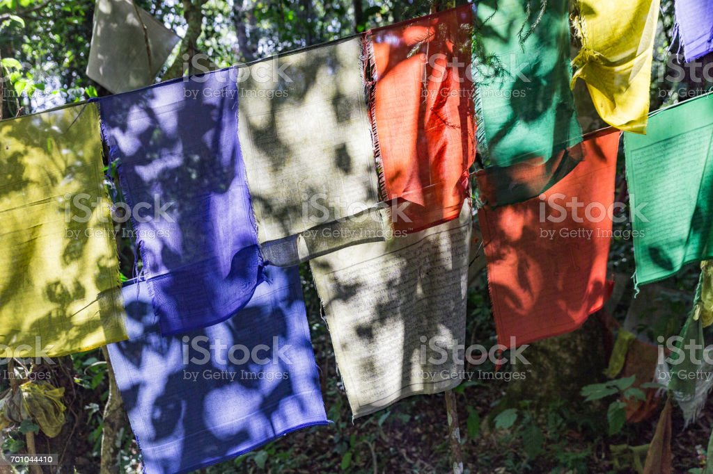 Tibetan Buddhist Prayer Flag Include Red Green Yellow Blue And White
