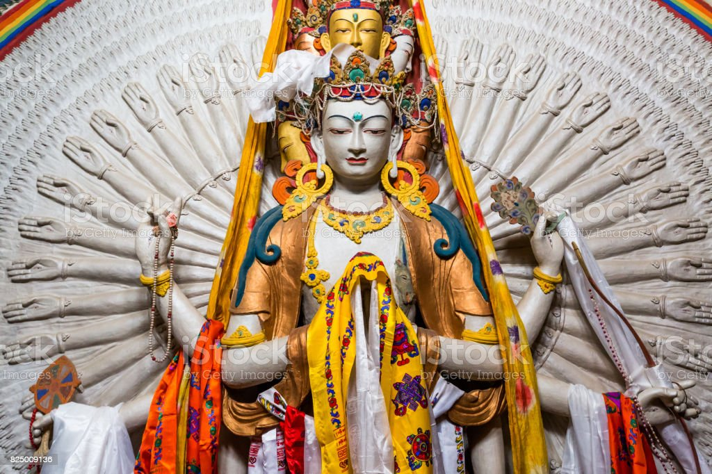 Tibetan Buddhist saint stock photo