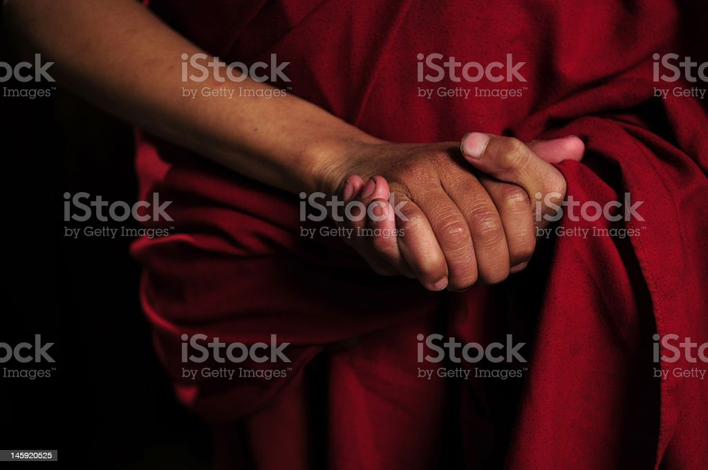 Tibetan Buddhist, the Jonang School studnt monks in Kathmandu, Nepal. stock photo