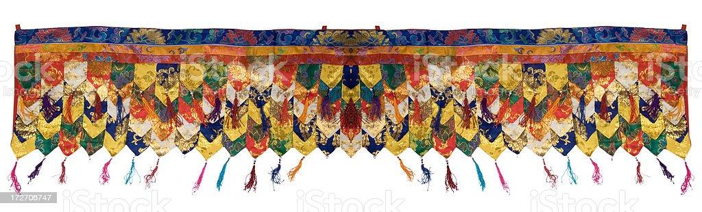 Tibetan Buddhist Wallhanging stock photo