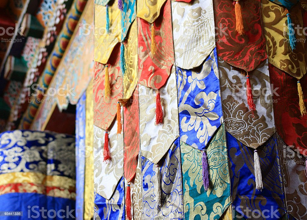 Tibetischer Dekoration Lizenzfreies stock-foto