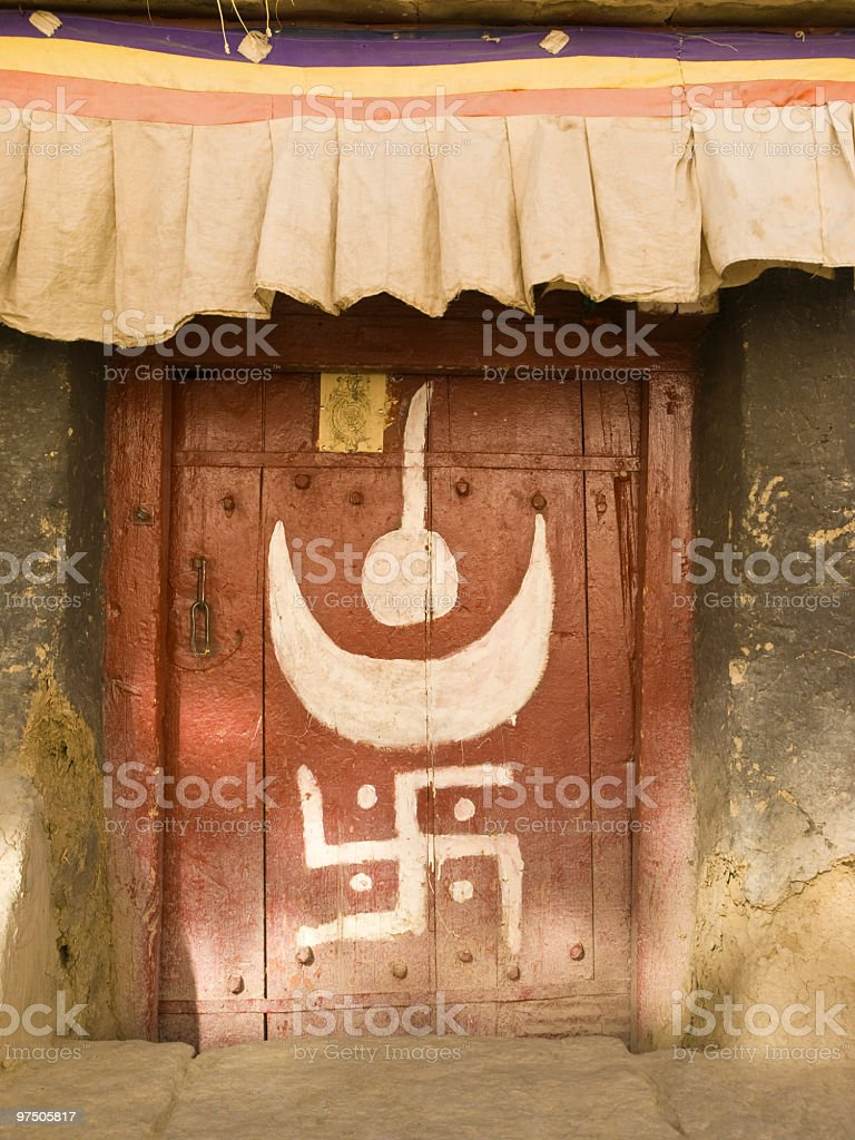Tibetan doors royalty-free stock photo