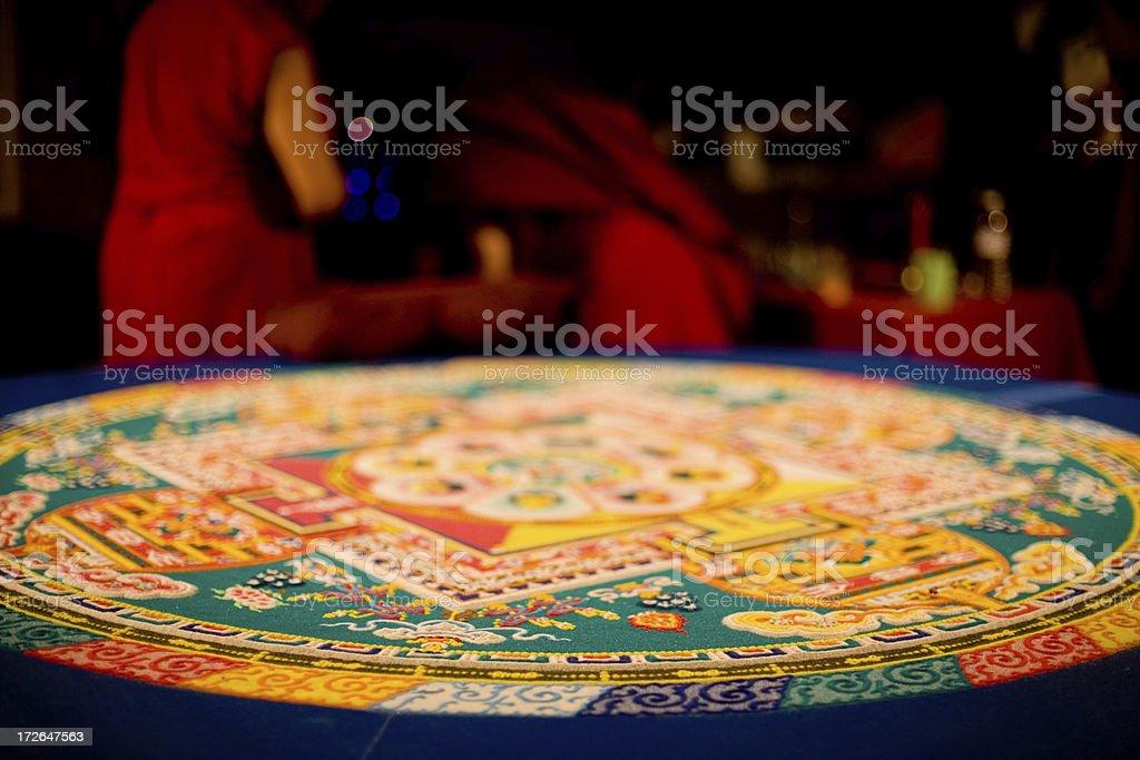 Tibetan Healing Mandala stock photo
