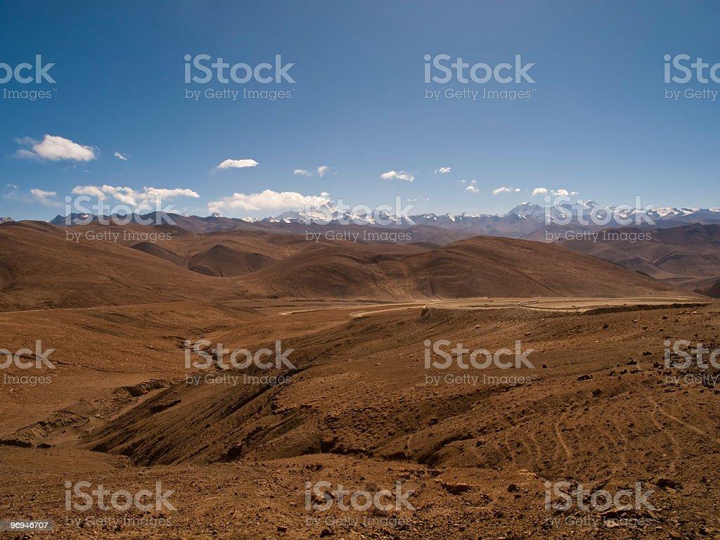 Tibetan Highlands, Himalayas royalty-free stock photo