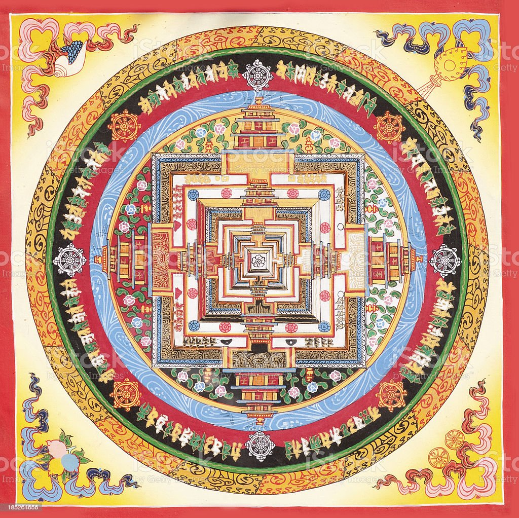 Tibetan Mandala stock photo