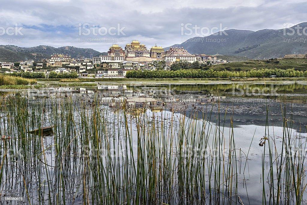 Tibetan monastery in China stock photo