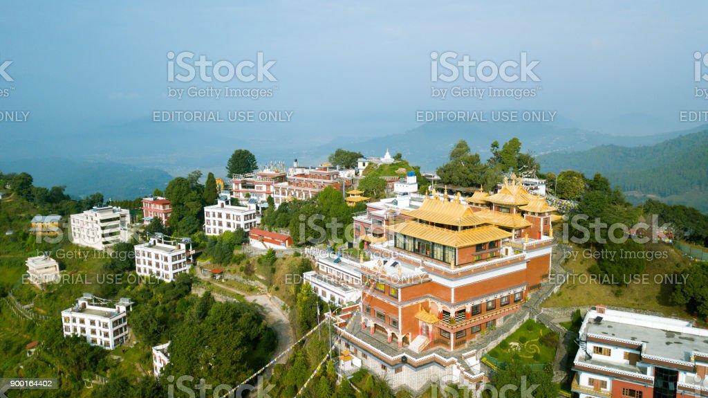 Tibetan Monastery, Kathmandu valley, Nepal - October 17, 2017 stock photo