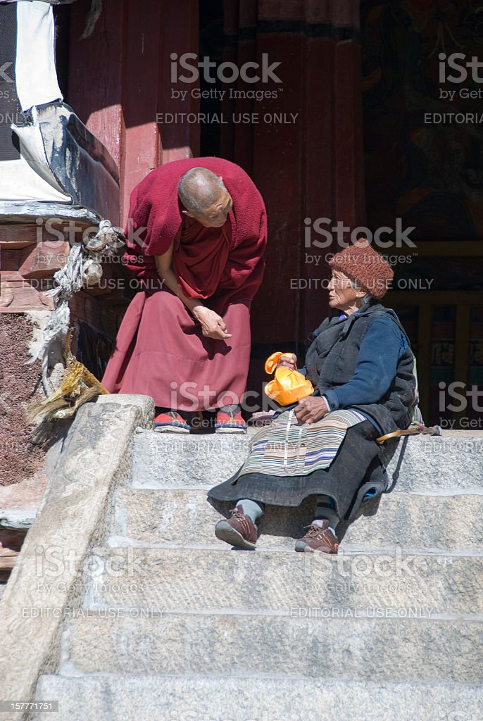 Tibetan Monk royalty-free stock photo