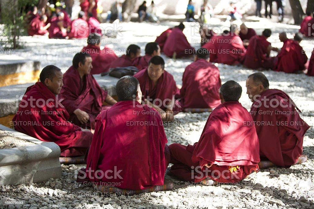 Tibetan Monks stock photo