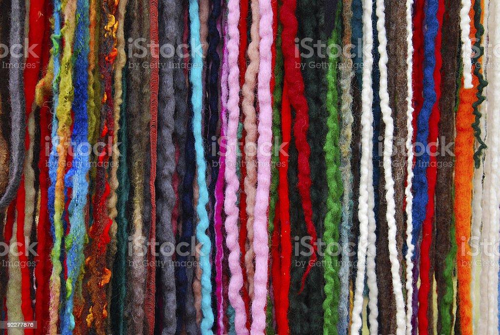 tibetan multicoloured wool royalty-free stock photo