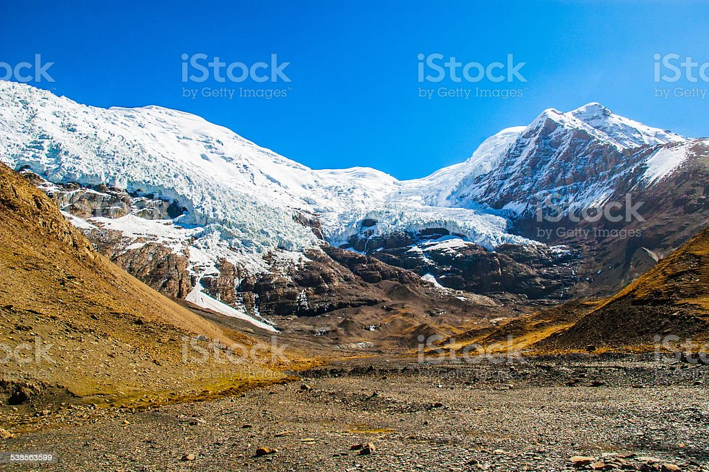 Tibetan plateau scene-Glacier Kanola stock photo