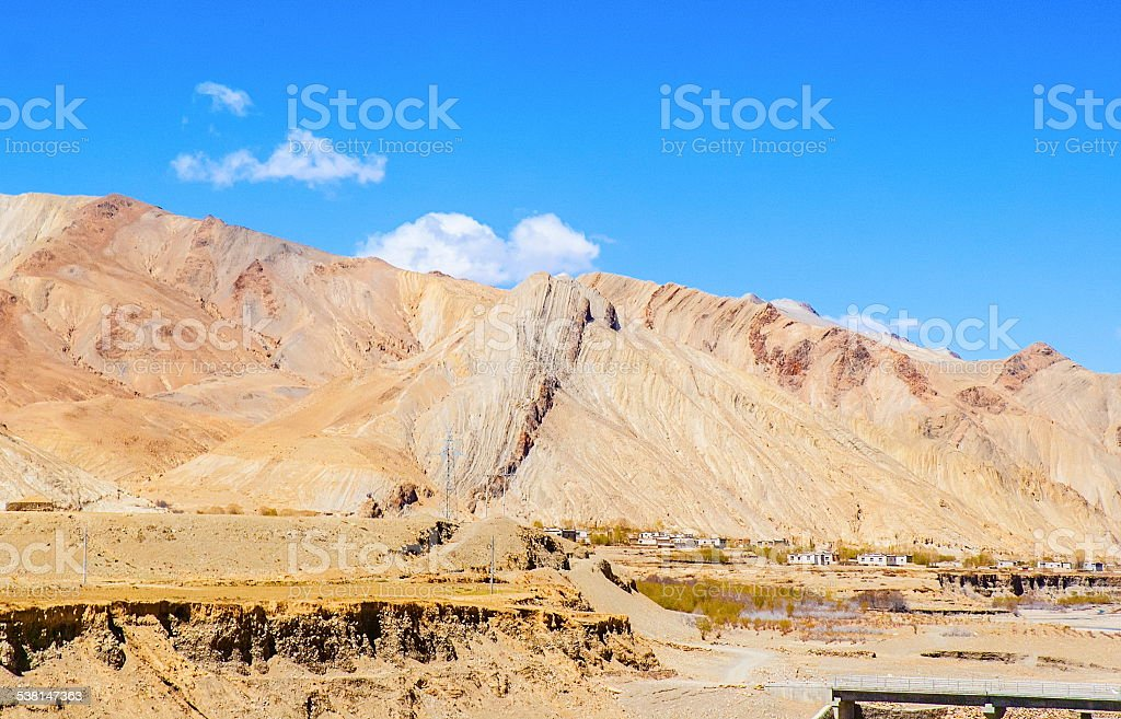 Tibetan plateau scene-Plateau topography stock photo