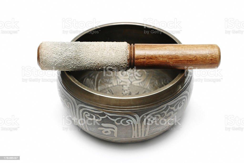 Tibetan singing bowl royalty-free stock photo