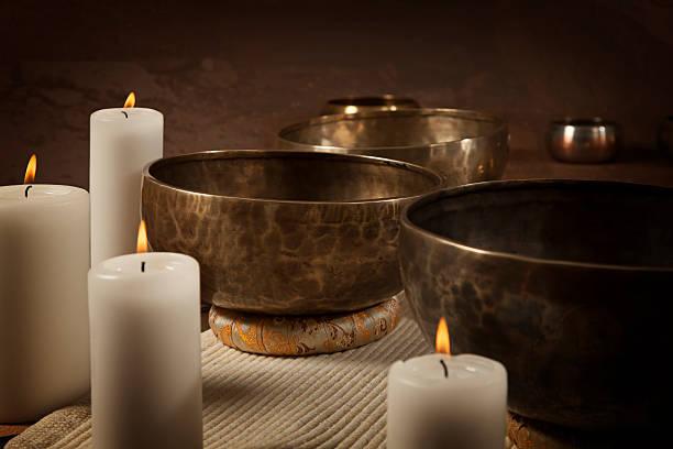 Tibetische singen bowls Nahaufnahme – Foto
