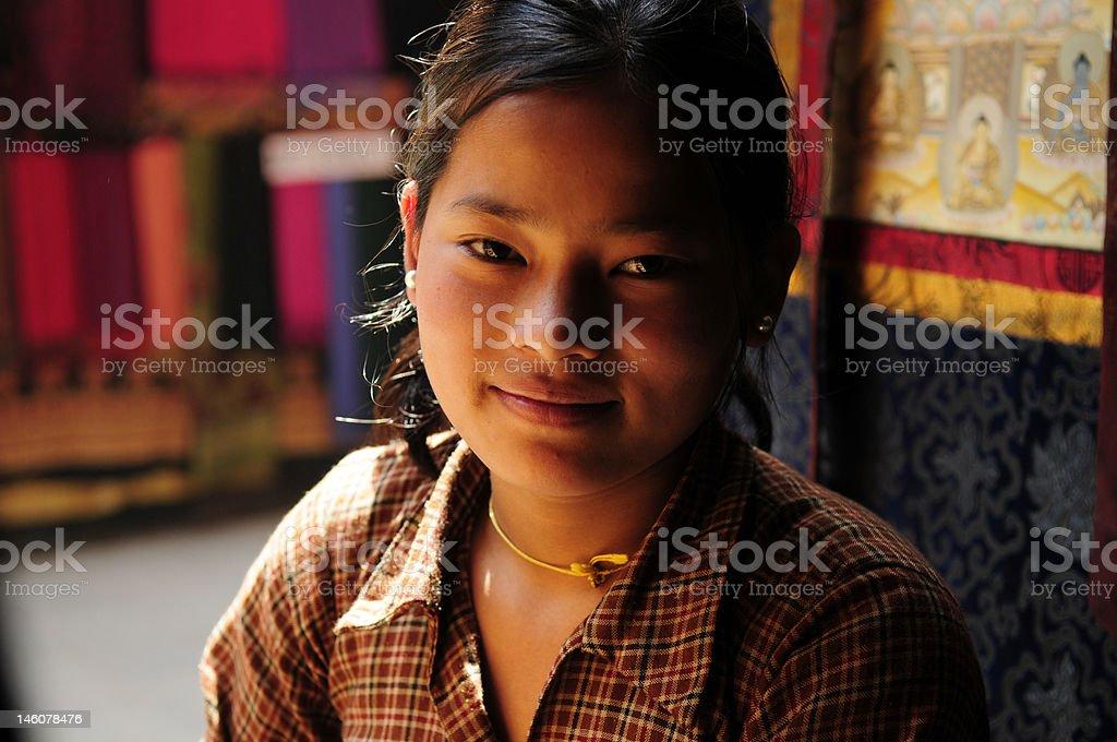 Tibetan Tangka painter royalty-free stock photo