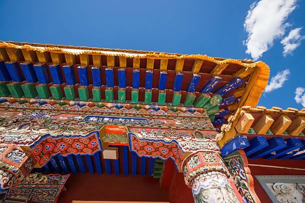 tibetan temple Eaves stock photo