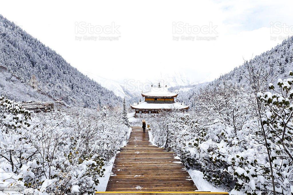 tibetan temple royalty-free stock photo