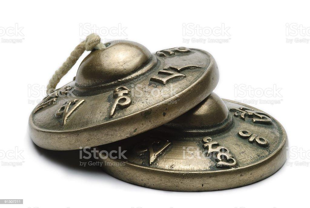 Tibetan tingsha cymbals royalty-free stock photo
