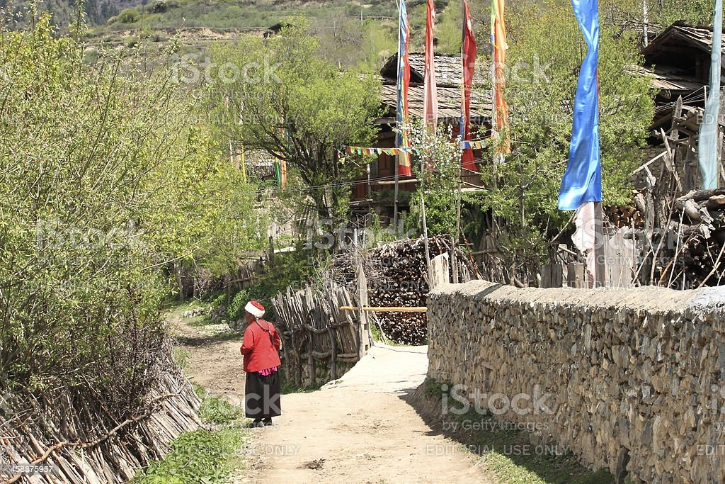 Tibetan village life royalty-free stock photo