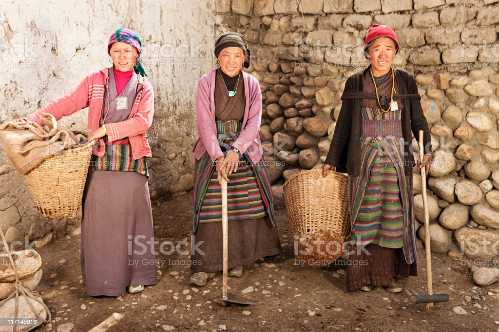 Tibetan women stock photo
