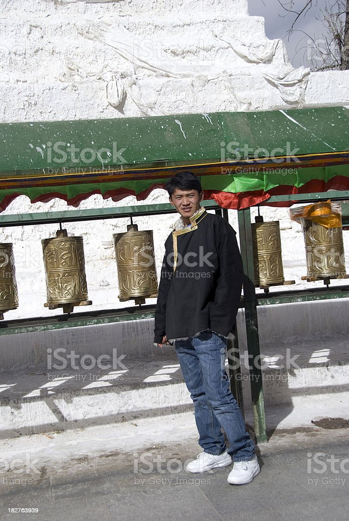 Tibetan Young Man royalty-free stock photo