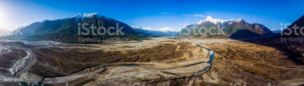 Tibet's scenery stock photo