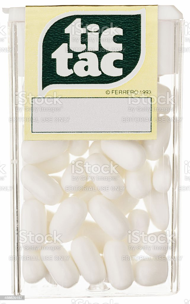 Tic Tac Mint Candy stock photo