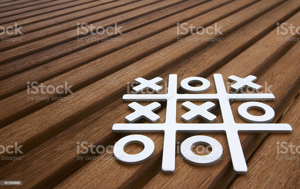 Tic Tac Toe game royalty-free stock photo