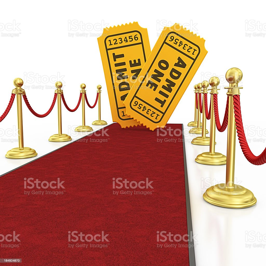 ticets and red carpet royalty-free stock photo
