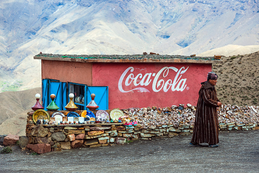 istock Tichka pass-Morocco, Souvenir shop and a caption Coca Cola 466438100