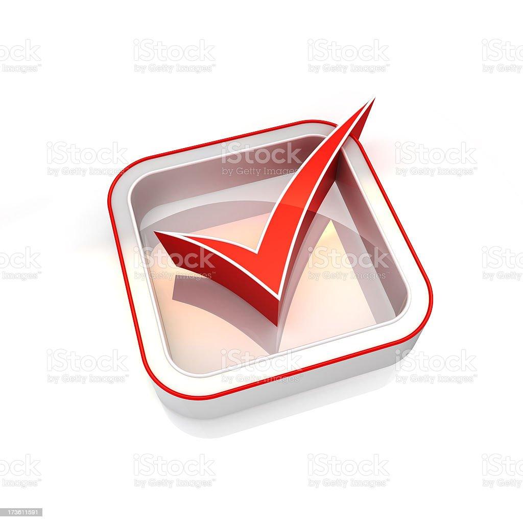 tick icon royalty-free stock photo