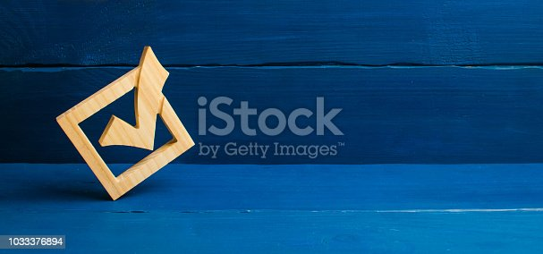 istock A tick in government elections. Choice of candidate. The democratic process. The right choice, the best option. The strategy of choice. Referendum, forum. Candidate for presidency. Lawmakers, Senate. 1033376894