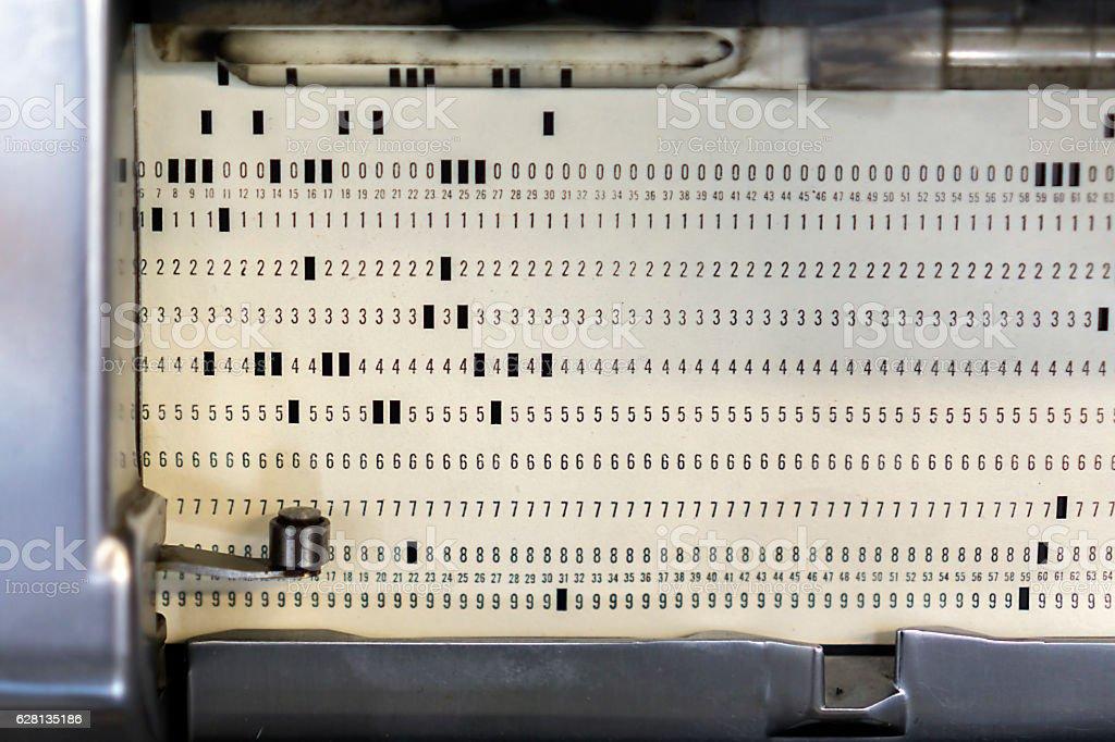 Ticker Tape stock photo
