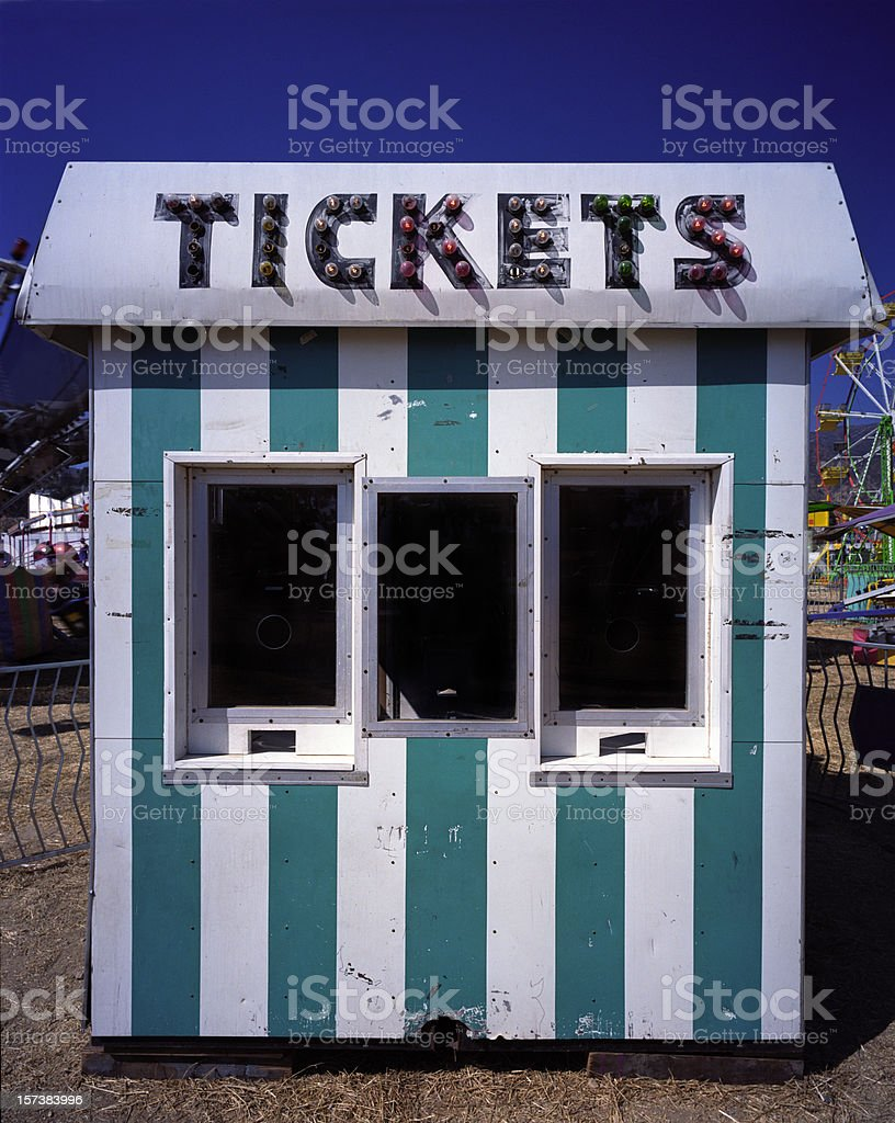 Ticket Booth at the Carnival stock photo