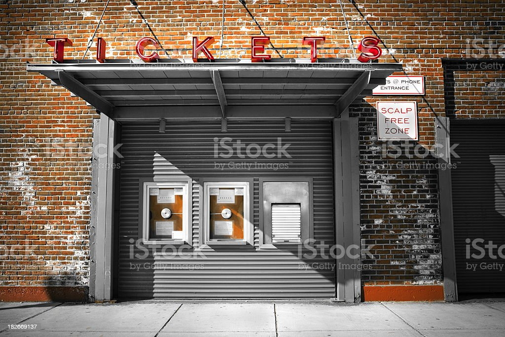 ticket booth royalty-free stock photo