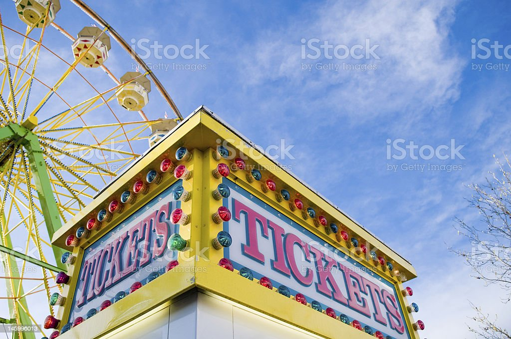Ticket counter at county faire royalty-free stock photo