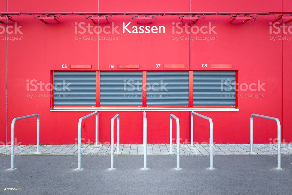 Ticket counter stock photo