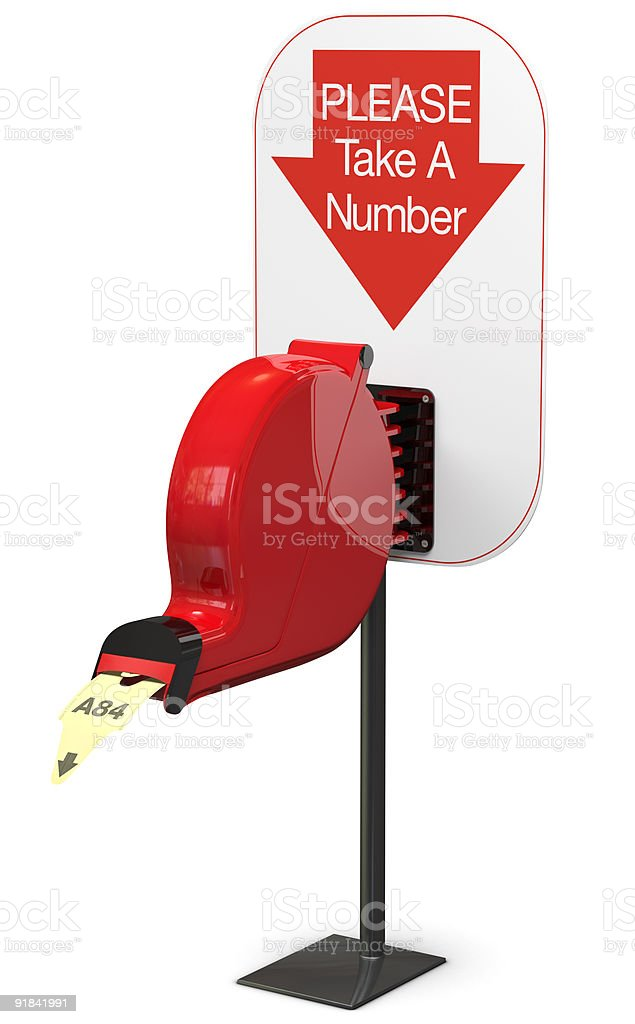 Ticket Dispenser - Isolated royalty-free stock photo