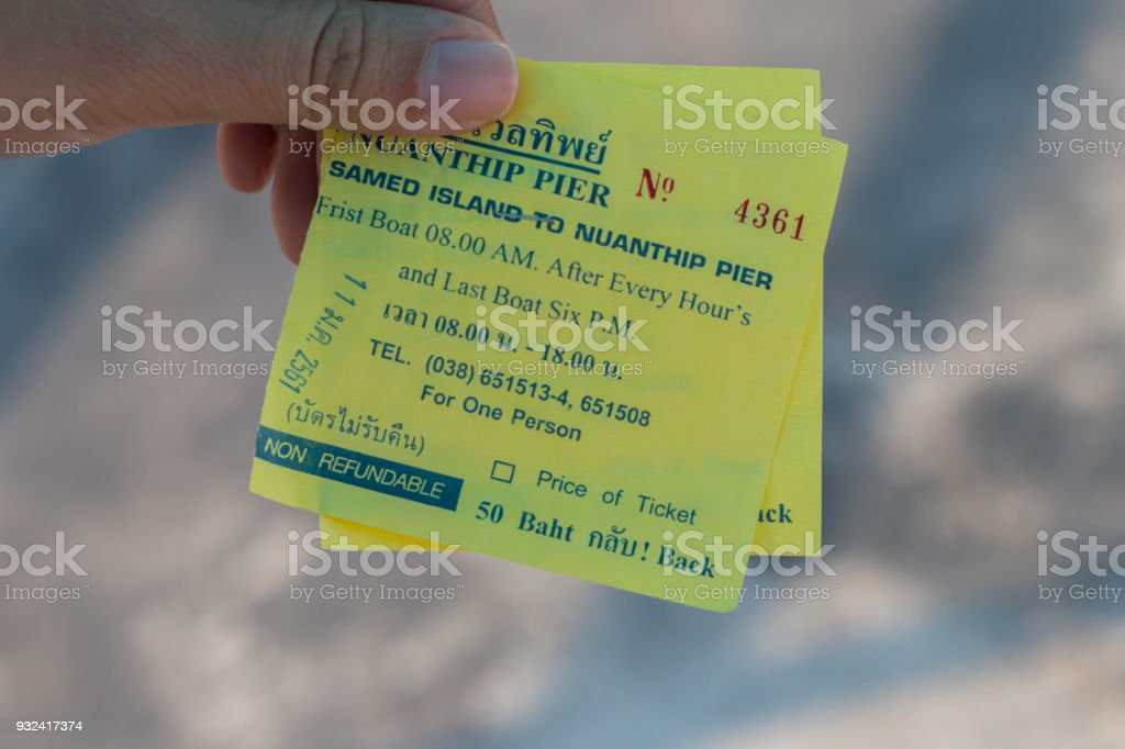 Ticket ferry Thailand stock photo
