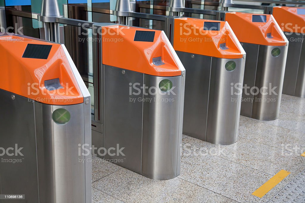 Ticket Gate royalty-free stock photo