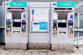 Ticket machines to purchase or load tickets or cards respectively for access to the London Underground.