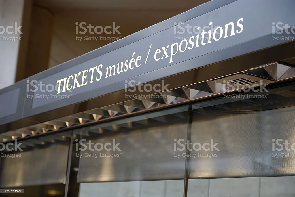 Ticket office in a museum stock photo