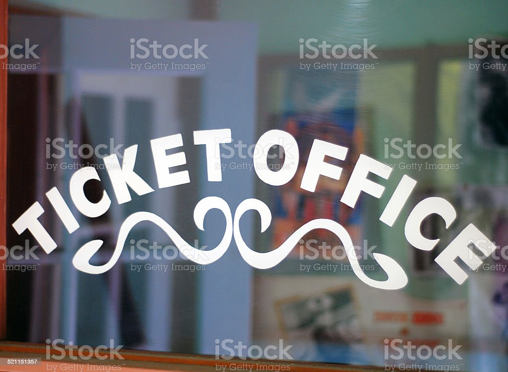 Ticket Office stock photo